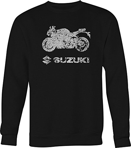 DISTRESS Suzuki Street Bike GSXR Crewneck Shirt - XLarge (Street Gsxr Bike)