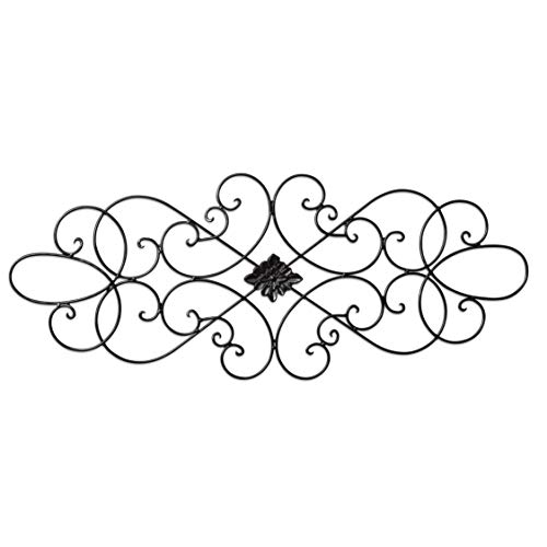 """(Besti Wall Art Medallion – Oblong Living Room Home Decoration 32"""" Wide x 12"""" Tall – Great Home Décor Piece – Made of Quality Iron)"""