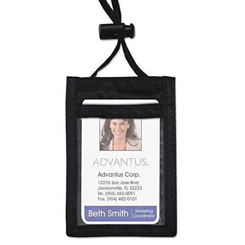 - AVT75453 - Advantus ID Badge Holder w/Convention Neck Pouch