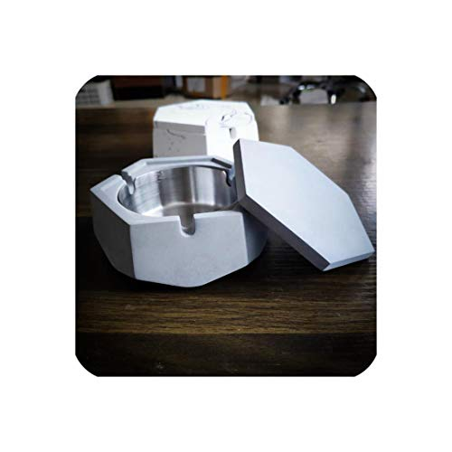 HEARTLIFE Ashtrays Ashtray Nordic Industrial Wind Creative Home Decoration Gifts Gifts Stainless Steel Ashtray Factory Direct Sales LW010735,A