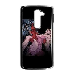 LG G2 Cell Phone Case Black deadpool cartoon comics hero art illust JSK799074