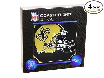 Amazon.com: NFL New Orleans Saints Coaster Set 4pk: Sports ...