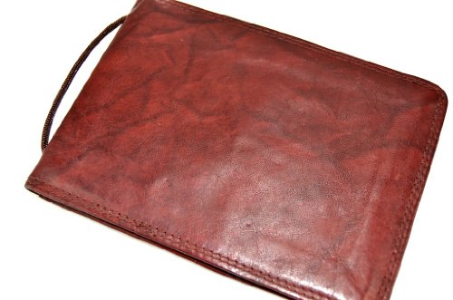 Security Bag Geldbörse Umhängetasche Wallet Leder Street Bordeaux maroon Brustbeutel Brusttasche wO4YvF6O
