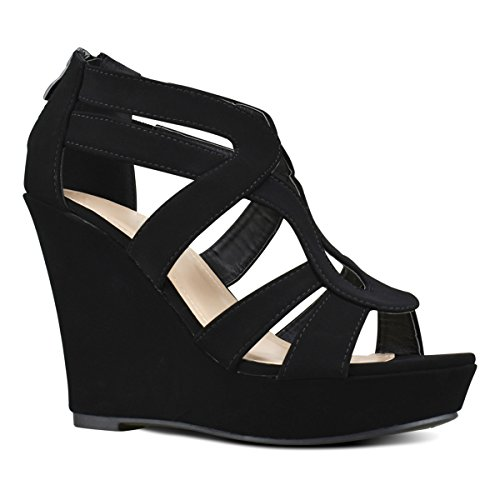 7412118d07cf6d Premier Standard Women s Open Toe Strappy Platform High Heel Wedge Sandals  - Summer Women Shoes