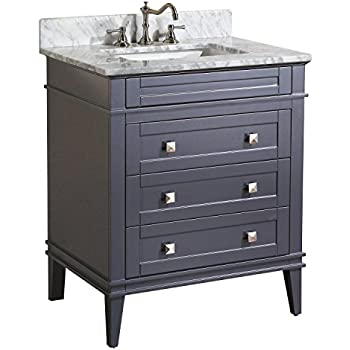 kitchen bath collection eleanor bathroom vanity with marble countertop cabinet with soft