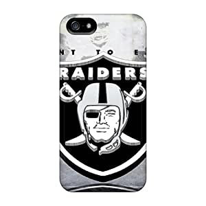ChristopherWalsh Iphone 5/5s Shockproof Hard Cell-phone Case Support Personal Customs Beautiful Oakland Raiders Pattern [guP13564AeTD]