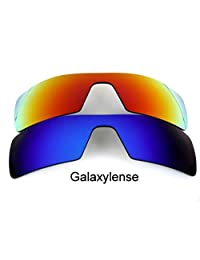 Galaxy Replacement Lenses for Oakley Oil Rig Blue&Red Polarized 2 Pairs