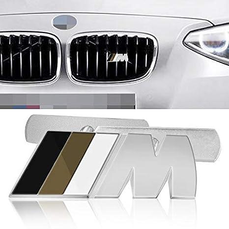 Car Styling 3d Metal M M Power Car Front Grille Emblem Chrome