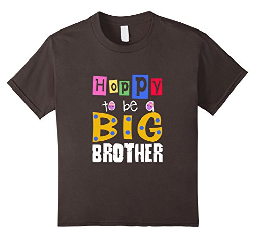 Kids FUNNY HOPPY TO BE A BIG BROTHER T-SHIRT Sister Family Gift 10 Asphalt (Cute Brother And Sister Costumes Halloween)