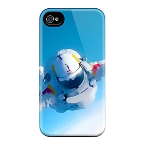 Hot Style RpC12227CorY Protective Cases Covers For Iphone4/4s(space Man Felix Baumgartner)