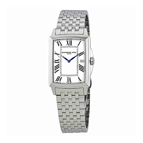 Raymond Weil White Wrist Watch (Raymond Weil Tradition White Dial Mens Stainless Steel Watch 5597-ST-00300)