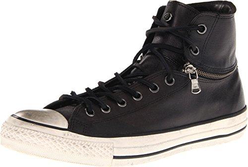 Converse John Varvatos Chuck Taylor Unisex Zip Hi Lo Black Leather 132836C (Men's 11.5 / Women's 13.5)