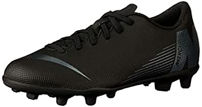 Nike Australia Boys Jr Vapor 12 Club GS FG/MG Fashion Shoes, Black/Black, 1 US
