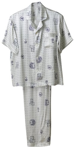 """GPUFashion 100% Silk Pajama Mens Printed with """"the Chinese Dragons Round"""" for sale"""