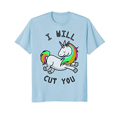 I Will Cut You Funny Unicorn Shirt |Unicorn Christmas Gift - Christmas Womens Cut T-shirt