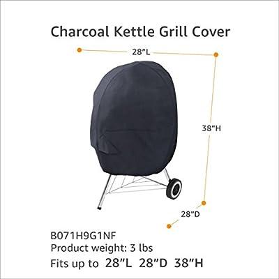 AmazonBasics Charcoal Kettle Grill Cover - Black