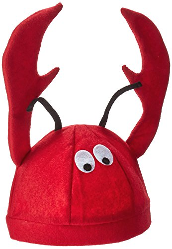 Jacobson Hat Company Men's Felt Lobster Hat, Red, (Lobster Costume Halloween)