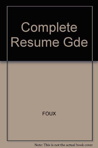 Complete Resume Gde