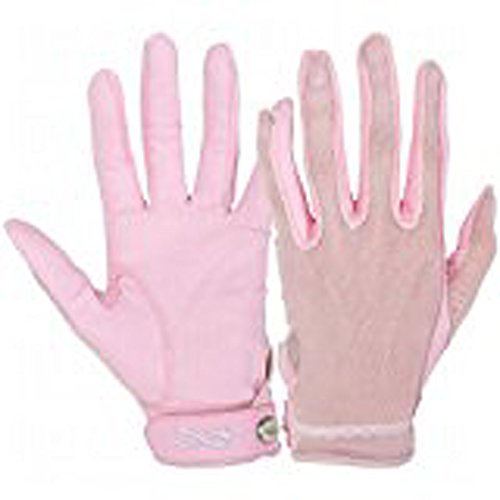 (Lady Classic Ladies Solar Tan Golf Gloves-Pink Ribbon Full Finger X-Large Left)