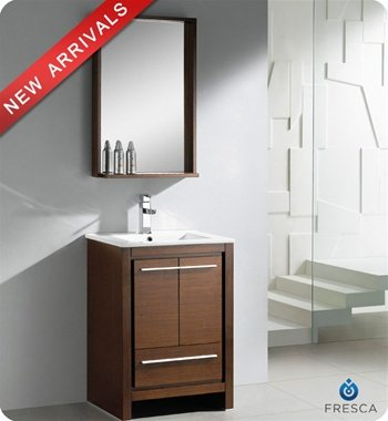 Bathroom Vanity Set with Mirror Base Finish: Wenge Wood ()