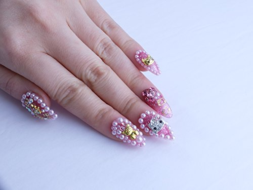Pink Princess Kitty Custom Press on Nails by Unicornails