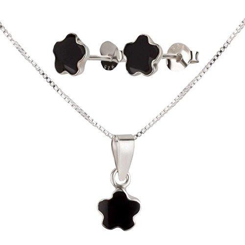 SL de Silver Set Cadena Colgante Pendientes Coral/piedra de luna 925plata de ley en caja de regalo