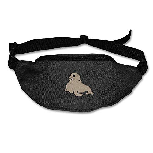 Spanwell Unisex Waist Pack Funny Seal Flat Fanny Bag Pack For ort Running Travel