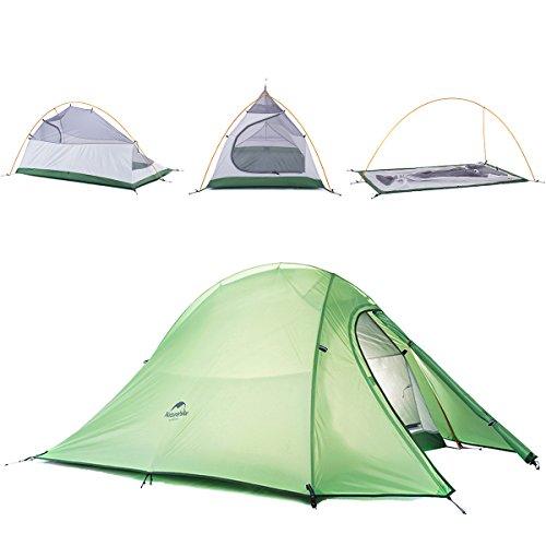 Cheap Naturehike Cloud-Up Ultra-light 4 Season 2 Person Tent (Green)