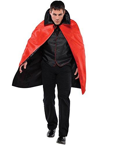 Amscan Costume Accessory Reversible Vampire Cape One Size, -