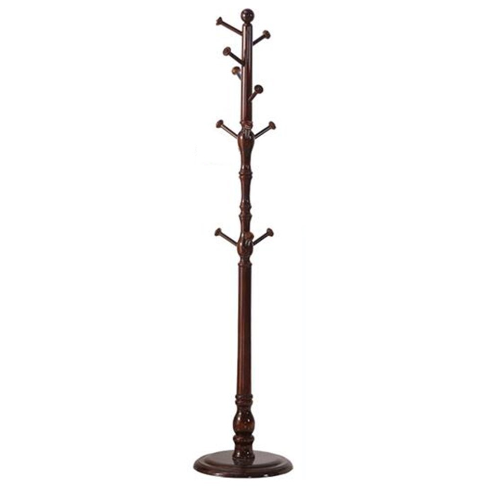 HOMEE Pastoral Creative Solid Wood Coat Racks Bedroom Living Room Assembly Wood Hangers (4 Colors Available),#1