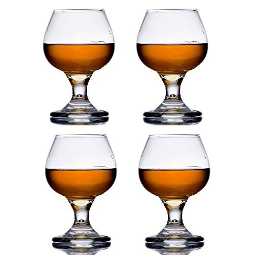 5.5 oz Brandy Glass Libbey 3702 Embassy Snifter or Cocktail Set of 4 w/ Pourer by Libbey