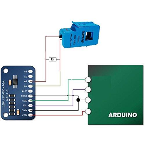 JANSANE SCT-013-000 100A Non-invasive AC Current Sensor Split-Core Clamp Current Transformer for Arduino Raspberry pi by JANSANE (Image #4)