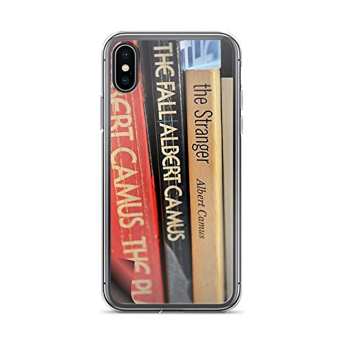 iPhone X Case iPhone Xs Case Clear Anti-Scratch The Pages of Camus, Albert camus Cover Phone Cases for iPhone X/iPhone Xs, Crystal -