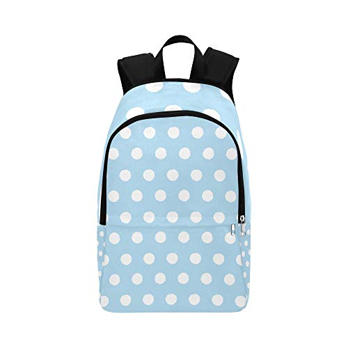Backpack Shoulder Bag Many Blue Polka Dot for Men Women Teachers Bookbag Laptop Backpack Waterproof Trip Beach for Camper