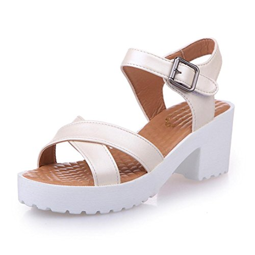 Sandales Sandales Plein De Talon Air Haut Chaussures En D'été Femmes Beige Plate forme Lhwy a6wxvdqEAa