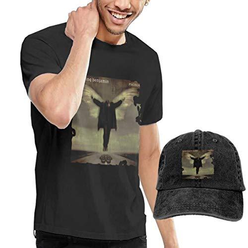 HCULXTIBW Breaking Benjamin Phobia Unisex Art Funny Short Sleeve T-Shirt and Cowboy Hat Black M