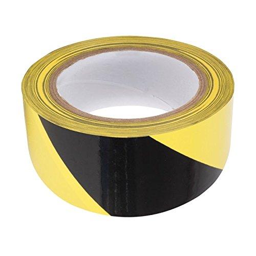 Rubalise jaune et noir 50 mm x 100 m - Ruban de signalisation de chantier, travaux, balisage - périmètre de sécurité - zone de danger - marque UNIVERS GRAPHIQUE Ref UGRUBAL01 UGRUBAL02-1
