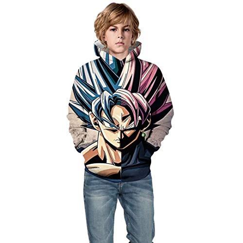 Unisex Toddler Girl Boy Kids 3D Print Dragon Ball Z Pullover Hoodie Sweatshirt -