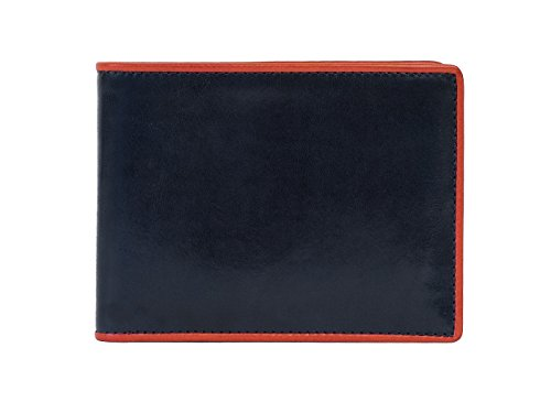 Old Executive Wallet Pocket 8 Leather Navy Red Bosca Old Bosca gwxWq6gE