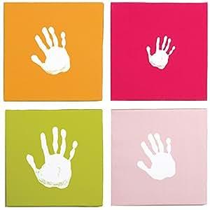 Pearhead 30502 - Panel para huellas de bebé, color rosa