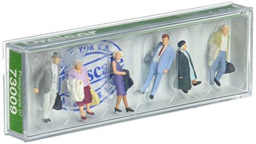 Preiser 73009 Travelers #2 Pkg(6) OO Scale Figure Model