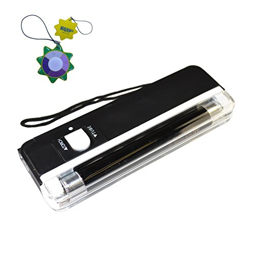 HQRP Blacklight UV Counterfeit Money detector 365nm with Torch Function (Black) + HQRP UV ()