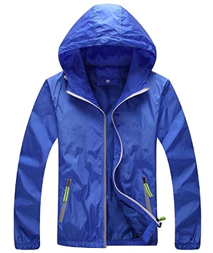 Light Windbeaker Thin Hoodie Mens Coat Quick EKU Breathable Dry Blue Jacket Fashion Yxqv4Ew7