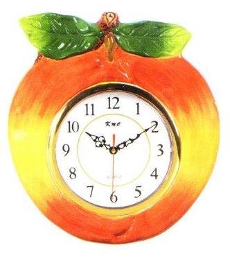 PEACH 3-Dimensional Wall Clock BRAND NEW!