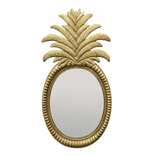 Three Hands Pineapple Wall Mirror - Gold Wall Decor