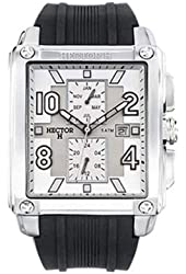 Hector Men's White Dial Date And Month Watch
