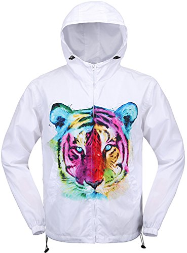 Pizoff Unisex Hipster Long Sleeve Adjustable Waist Colorful Tiger Print