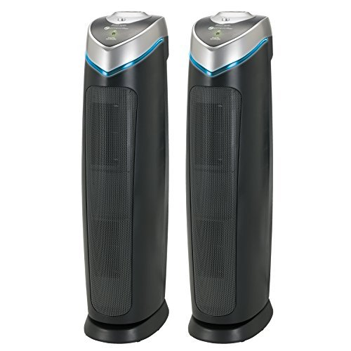 """GermGuardian AC5000 28"""" 3-in-1 Large Room Air Purifier, HEPA Filter, UVC Sanitizer, Home Air Cleaner Traps Allergens for Smoke, Odors, Mold, Dust, Germs, Smokers, Pet Dander, Energy Star Germ Guardian For Sale"""