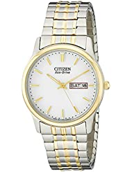 Citizen Mens Eco-Drive Expansion Band Watch with Day/Date, BM8454-93A