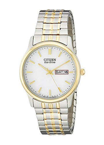 Citizen Men's Eco-Drive Expansion Band Watch with Day/Date, - Watch Citizen Mens Bracelet Two Tone